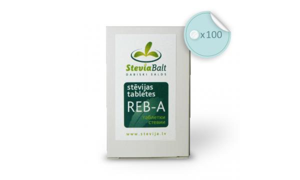 Stevijos tabletės Reb-A, 100 vnt., su dozatoriumi