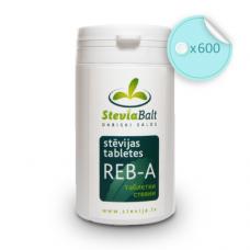 Stevijos tabletės Reb-A, 600 vnt., su dozatoriumi
